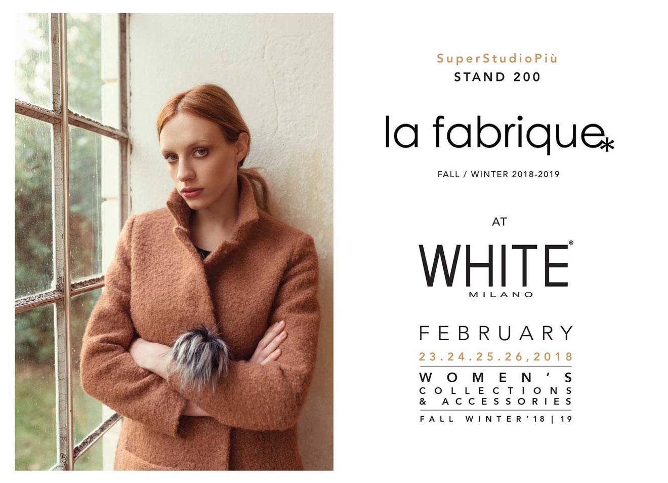 La Fabrique at White Milano 2018